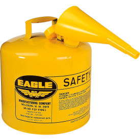UI-50-FSY Eagle Type I Safety Can - 5 Gallon with Funnel - Yellow, UI-50-FSY