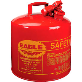 UI-50-S Eagle Type I Safety Can - 5 Gallons - Red, UI-50-S