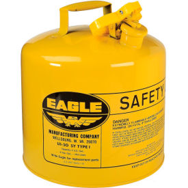 UI-50-SY Eagle Type I Safety Can - 5 Gallons - Yellow, UI-50-SY