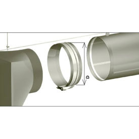 "zip-a-duct™ 16""  gray inlet section Zip-A-Duct™ 16""  Gray Inlet Section"