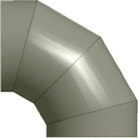 "zip-a-duct™ 16"" diameter 90 ° gray left hand elbow Zip-A-Duct™ 16"" Diameter 90 ° Gray Left Hand Elbow"