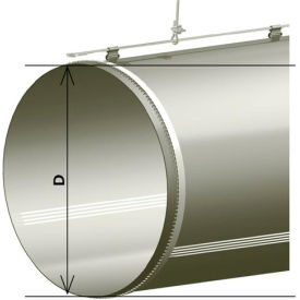 "zip-a-duct™ 20"" gray straight section with vents - 500 cfm Zip-A-Duct™ 20"" Gray Straight Section With Vents - 500 CFM"