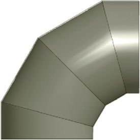 "zip-a-duct™ 24"" diameter 90 ° gray right hand elbow Zip-A-Duct™ 24"" Diameter 90 ° Gray Right Hand Elbow"