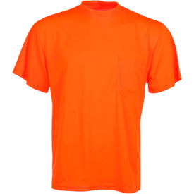 gss safety 5502 moisture wicking short sleeve safety t-shirt with chest pocket - orange, 3xl GSS Safety 5502 Moisture Wicking Short Sleeve Safety T-Shirt with Chest Pocket - Orange, 3XL