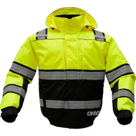 gss safety 8511 3-in-1 bomber jacket, class 3, lime/black, 4xl GSS Safety 8511 3-In-1 Bomber Jacket, Class 3, Lime/Black, 4XL