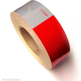 "heskins dot c2 approved conspicuity reflective tape, 11"" red/7"" white, 2"" x 150, 1 roll Heskins DOT C2 Approved Conspicuity Reflective Tape, 11"" Red/7"" White, 2"" x 150, 1 Roll"