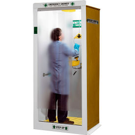 "hemco® emergency shower/decontamination booth, 40"" x 37"" x 90"" HEMCO® Emergency Shower/Decontamination Booth, 40"" X 37"" X 90"""