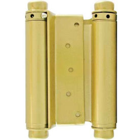 "ultra hardware double action spring hinge, sq. corner, 4""l, 2mm, brass/us3"