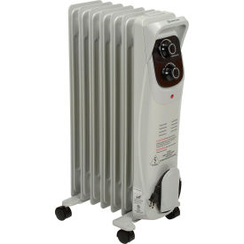 comfort zone® deluxe oil filled radiator, 600-1500 watts, 12.5 amps.
