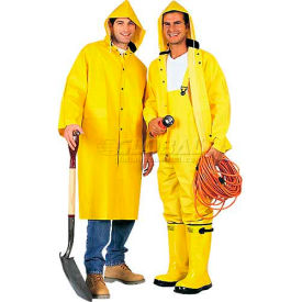 comfitwear® 3-piece heavy duty rainsuit, yellow, polyester, 5xl ComfitWear® 3-Piece Heavy Duty Rainsuit, Yellow, Polyester, 5XL