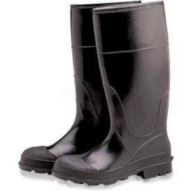 comfitwear® industrial steel toe knee boots, size 10, vinyl, black, 1-pair ComfitWear® Industrial Steel Toe Knee Boots, Size 10, Vinyl, Black, 1-Pair