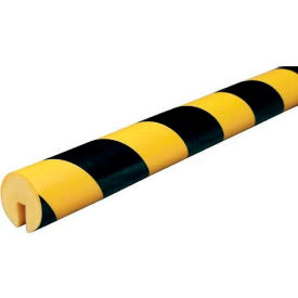 "60-6710 Knuffi Edge Bumper Guard, Type B, 196-3/4""L x 1-9/16""W, Black & Yellow, 60-6710"