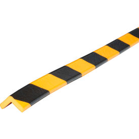 "60-6742 Knuffi 90-Degree Shelf Bumper Guard, Type E, 39-3/8""L x 1""W, Yellow/Black, 60-6742"
