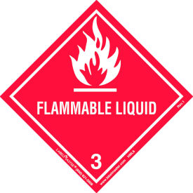 labelmaster® hml6 flammable liquid label, worded, paper, 500/roll LabelMaster® HML6 Flammable Liquid Label, Worded, Paper, 500/Roll