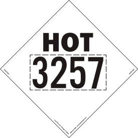 labelmaster® rvhot3257 hot 3257 marking 273 x 273 mm, rigid vinyl, 25/pack LabelMaster® RVHOT3257 Hot 3257 Marking 273 x 273 MM, Rigid Vinyl, 25/Pack