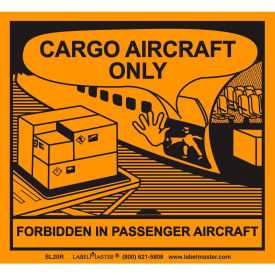 labelmaster® sl20r cargo aircraft only label, pvc-free film, 500/roll LabelMaster® SL20R Cargo Aircraft Only Label, PVC-Free Film, 500/Roll