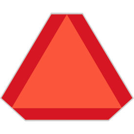 labelmaster® smv105 slow moving vehicle triangle, galvanized steel, red LabelMaster® SMV105 Slow Moving Vehicle Triangle, Galvanized Steel, Red