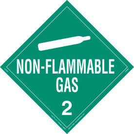 labelmaster® z-rvw3 non-flammable gas placard, worded, rigid vinyl, 25/pack LabelMaster® Z-RVW3 Non-Flammable Gas Placard, Worded, Rigid Vinyl, 25/Pack