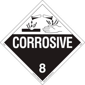 labelmaster® z-rvw4 corrosive placard, worded, rigid vinyl, 25/pack LabelMaster® Z-RVW4 Corrosive Placard, Worded, Rigid Vinyl, 25/Pack