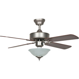 "concord 42"" heritage square ceiling fan with bowl light 42hes4esn - satin nickel Concord 42"" Heritage Square Ceiling Fan With Bowl Light 42HES4ESN - Satin Nickel"