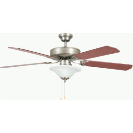 "concord 52"" heritage square ceiling fan with bowl light 52hes5esn - satin nickel Concord 52"" Heritage Square Ceiling Fan With Bowl Light 52HES5ESN - Satin Nickel"