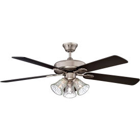 "concord 52"" richmond ceiling fan with light kit 52ric5est - stainless steel Concord 52"" Richmond Ceiling Fan With Light Kit 52RIC5EST - Stainless Steel"