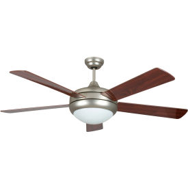 "concord 52"" saturn ii ceiling fan with light 52sat5esn - satin nickel Concord 52"" Saturn II Ceiling Fan With Light 52SAT5ESN - Satin Nickel"