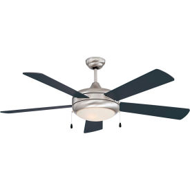 "concord 52"" saturn-ex ceiling fan with light 52sax5est - stainless steel Concord 52"" Saturn-Ex Ceiling Fan With Light 52SAX5EST - Stainless Steel"