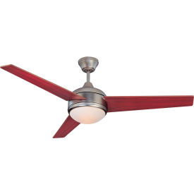"concord 52"" skylark 3 blade ceiling fan with light 52sky3esn - satin nickel Concord 52"" Skylark 3 Blade Ceiling Fan With Light 52SKY3ESN - Satin Nickel"