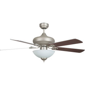 "concord 52"" valore quick connect ceiling fan with bowl light kit 52valqc5esn - satin nickel Concord 52"" Valore Quick Connect Ceiling Fan With Bowl Light Kit 52VALQC5ESN - Satin Nickel"