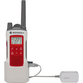 T480 Motorola Talkabout; T480 Emergency Preparedness Two-Way Radio, White/Red