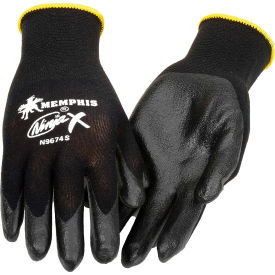 N9674M Ninja X Bi-Polymer Coated Palm Gloves, Memphis Glove N9674m, 1-Pair
