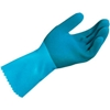 301428 MAPA; Blue-Grip; LL301 Natural Rubber Gloves, Heavy Weight, Blue, 1 Pair, Large, 301428