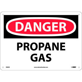 "D84AB NMC D84AB OSHA Sign, Danger Propane Gas, 10"" X 14"", White/Red/Black"