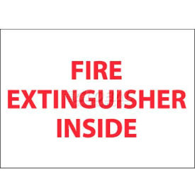"M28AP NMC M28AP Fire Sign, Fire Extinguisher Inside, 3"" X 5"", White/Red"