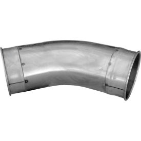 "nordfab qf tubed elbow 45 degree 1.5 clr, 5"" dia, galvanized steel Nordfab QF Tubed Elbow 45 Degree 1.5 CLR, 5"" Dia, Galvanized Steel"