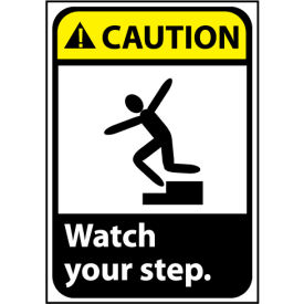CGA12R Caution Sign 10x7 Rigid Plastic - Watch Your Step