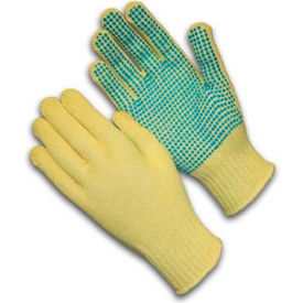08-K300PD/L PIP Kut-Gard; Kevlar; Gloves, 100% Kevlar;, Medium Weight, PVC Dots One Side, L, 1 DZ