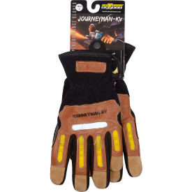 120-4100/L PIP Maximum Safety; Journeyman KV, Professional Workmans Glove, Brown, L, 1 Pair