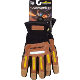 120-4100/M PIP Maximum Safety; Journeyman KV, Professional Workmans Glove, Brown, M, 1 Pair