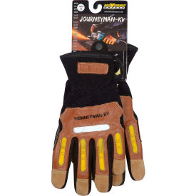 120-4100/XL PIP Maximum Safety; Journeyman KV, Professional Workmans Glove, Brown, XL, 1 Pair