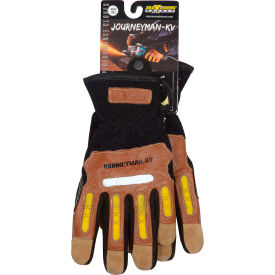 120-4100/XXL PIP Maximum Safety; Journeyman KV, Professional Workmans Glove, Brown, XXL, 1 Pair