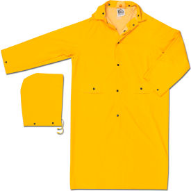 200CX3 MCR Safety 200CX3 Classic Rain Coat, 3X-Large, .35mm, PVC/Polyester, Detachable Hood, Yellow