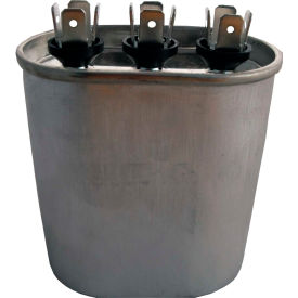 supco® cd40+5x370, 40 + 5mfd, 370v, run capacitor, oval Supco® CD40+5X370, 40 + 5MFD, 370V, Run Capacitor, Oval