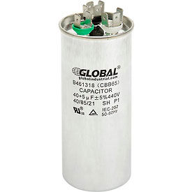 B461318 Global Industrial; B461318, 40 +/- 5% MFD, 440V, Run Capacitor, Round