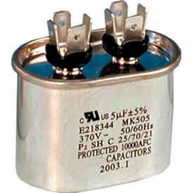 supco® cd45+5x440, 45 + 5 mfd, 440v, run capacitor, oval Supco® CD45+5X440, 45 + 5 MFD, 440V, Run Capacitor, Oval