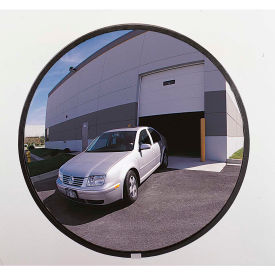 "PLXO48SSB** See All; 160-Degree Outdoor Acrylic Convex Mirror W/Stainless Steel Back, 48"" Dia. - PLXO48SSB"