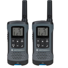 T200 Motorola Talkabout; T200 Rechargeable Two-Way Radios,Gray - 2 Pack