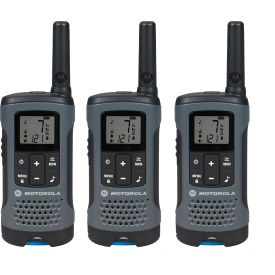 T200TP Motorola Talkabout; T200TP Rechargeable Two-Way Radios,Gray - 3 Pack