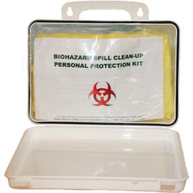 BP004 First Voice; Deluxe Wall Mounted Bloodborne Pathogen Clean-Up Kit